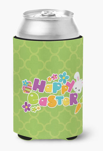 Buy this Happy Easter Green Quatrafoil Can or Bottle Hugger BB6900CC