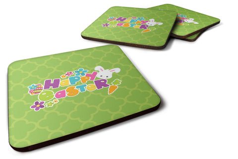 Buy this Happy Easter Green Quatrafoil Foam Coaster Set of 4 BB6900FC