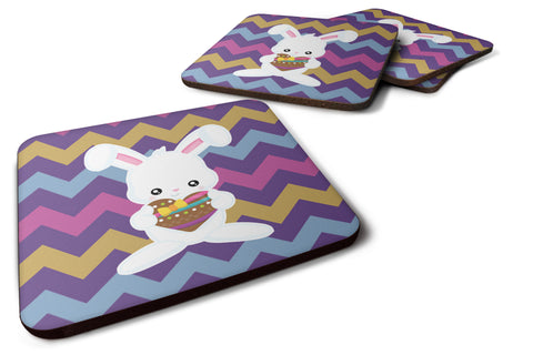Buy this Easter Rabbit with Chocolate Heart Foam Coaster Set of 4 BB6901FC