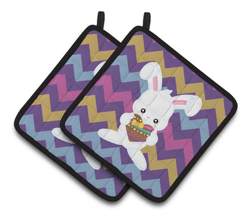 Buy this Easter Rabbit with Chocolate Heart Pair of Pot Holders BB6901PTHD