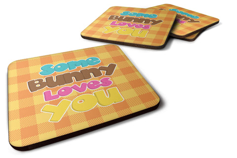 Buy this Easter Some Bunny Loves You Foam Coaster Set of 4 BB6902FC