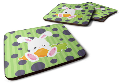 Buy this Easter Polkadot Rabbit Foam Coaster Set of 4 BB6903FC
