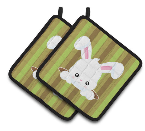 Buy this Easter Rabbit Hole Pair of Pot Holders BB6904PTHD