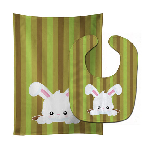 Buy this Easter Rabbit Hole Baby Bib & Burp Cloth BB6904STBU