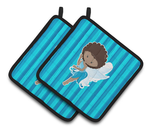 Buy this Fairy Blue Stripes Pair of Pot Holders BB6906PTHD
