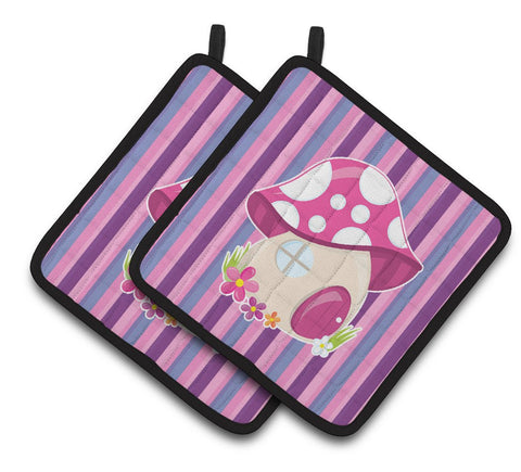 Buy this Fairy House Pink and Purple Pair of Pot Holders BB6908PTHD
