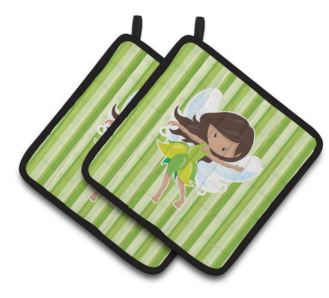 Buy this Fairy Green Stripes Pair of Pot Holders BB6909PTHD