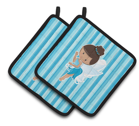 Buy this Fairy Blue Stripes Pair of Pot Holders BB6910PTHD