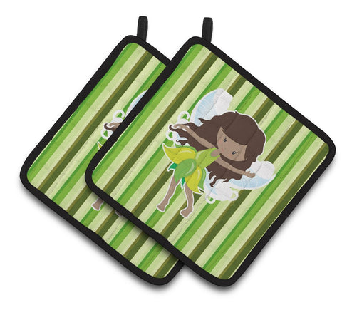 Buy this Fairy Green Stripes Pair of Pot Holders BB6912PTHD