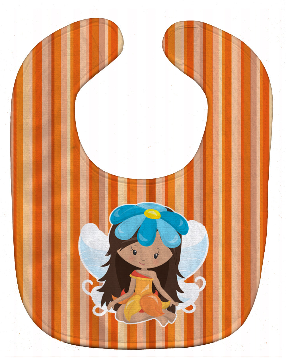 Buy this Fairy Orange Stripes Baby Bib BB6913BIB