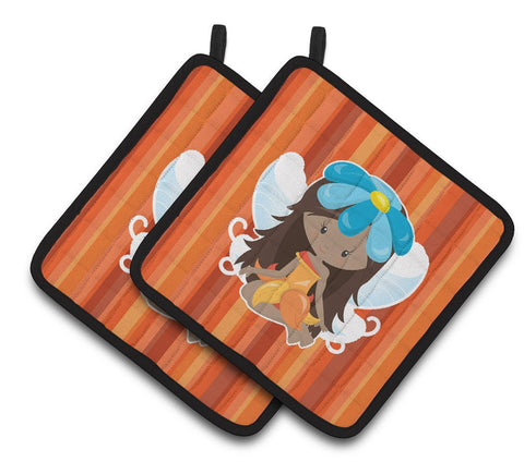 Buy this Fairy Orange Stripes Pair of Pot Holders BB6915PTHD