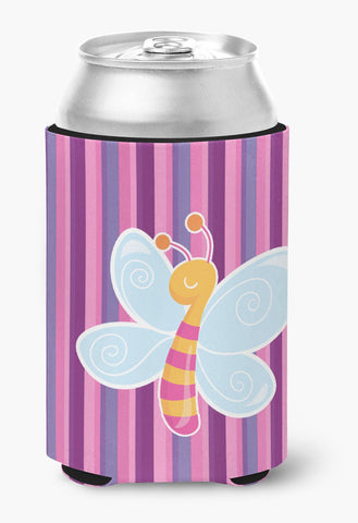 Buy this Dragonfly in Pink Stripes Can or Bottle Hugger BB6916CC