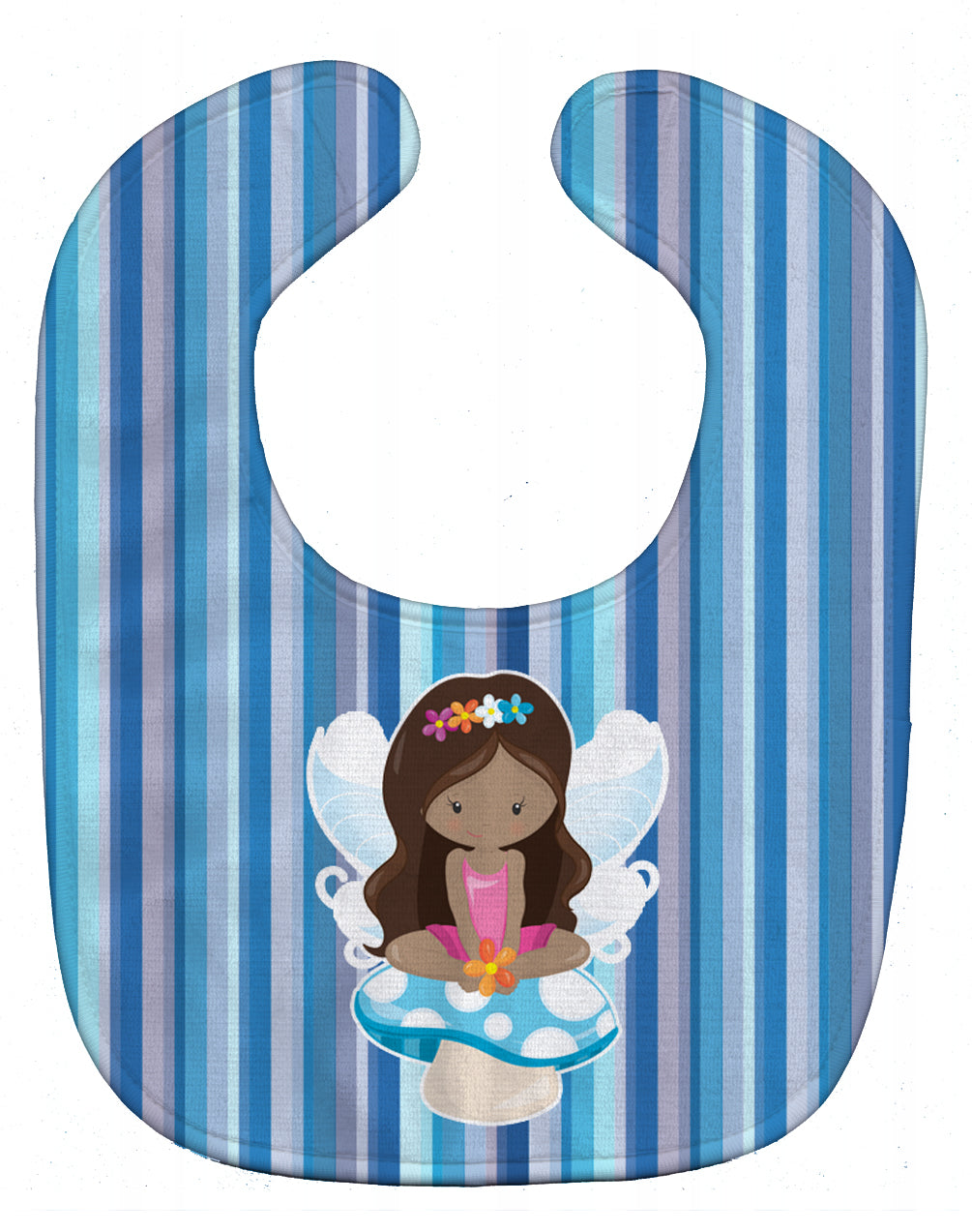 Fairy Blue Stripes Baby Bib BB6917BIB by Caroline's Treasures