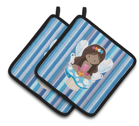 Buy this Fairy Blue Stripes Pair of Pot Holders BB6917PTHD
