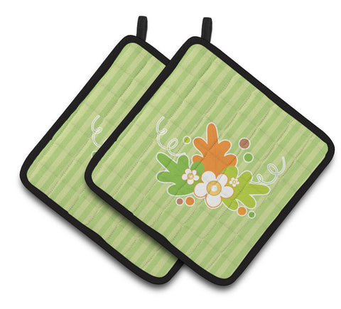 Buy this Fall Leaves Pair of Pot Holders BB6921PTHD