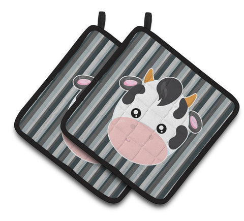 Buy this Cow Face Pair of Pot Holders BB6926PTHD