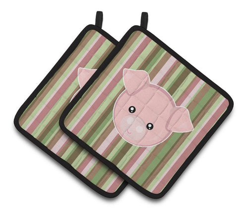 Buy this Pig Face Pair of Pot Holders BB6930PTHD