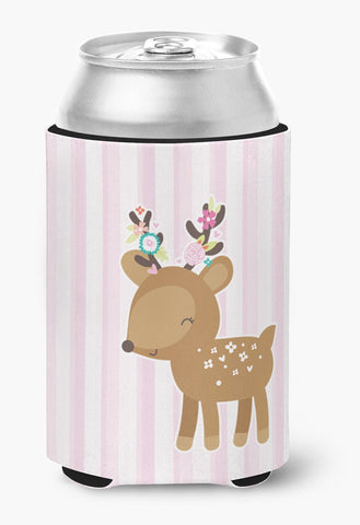 Buy this Deer in Pink Stripes Can or Bottle Hugger BB6934CC