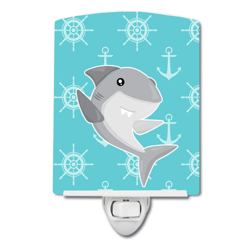 Buy this Shark on Blue Nautical Ceramic Night Light BB6940CNL