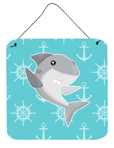 Buy this Shark on Blue Nautical Wall or Door Hanging Prints BB6940DS66