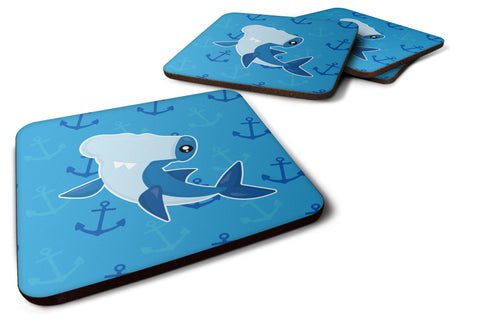 Buy this Hammerhead Shark on Anchors Foam Coaster Set of 4 BB6941FC