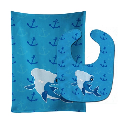 Buy this Hammerhead Shark on Anchors Baby Bib & Burp Cloth BB6941STBU