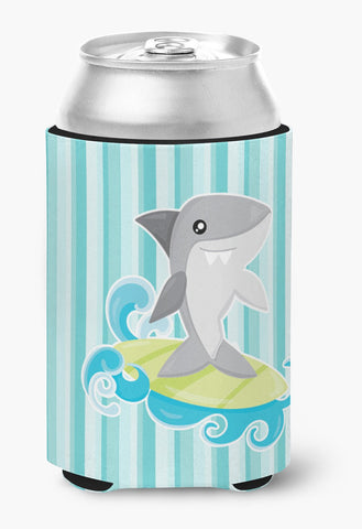 Buy this Surfin Shark on Stripes Can or Bottle Hugger BB6942CC