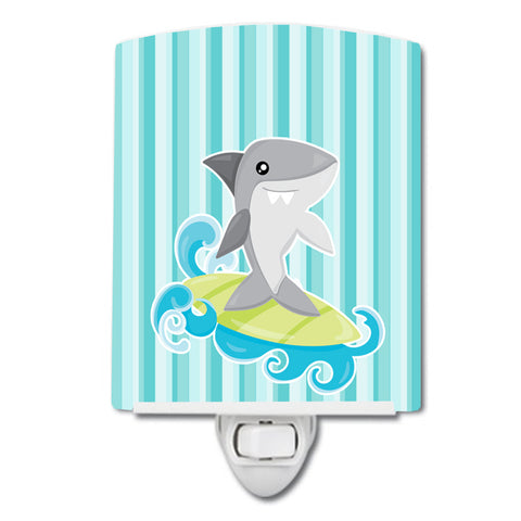 Buy this Surfin Shark on Stripes Ceramic Night Light BB6942CNL