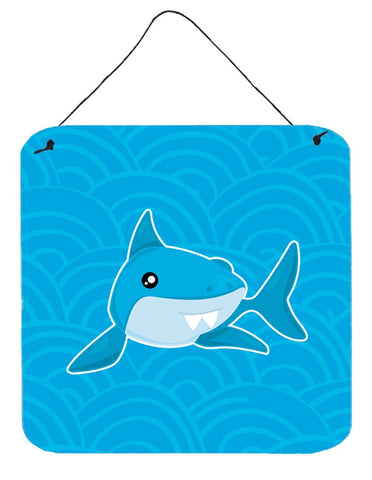 Buy this Shark with Waves Wall or Door Hanging Prints BB6943DS66