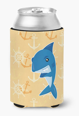 Buy this Shark on Beige Nautical Can or Bottle Hugger BB6946CC