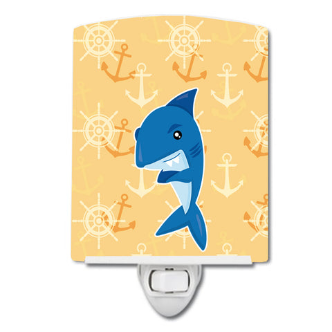 Buy this Shark on Beige Nautical Ceramic Night Light BB6946CNL