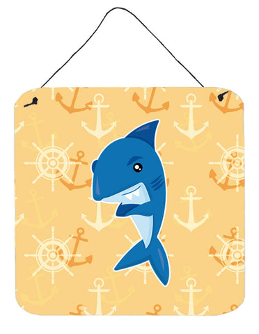 Buy this Shark on Beige Nautical Wall or Door Hanging Prints BB6946DS66
