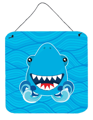 Buy this Shark Open Wide in Waves Wall or Door Hanging Prints BB6947DS66