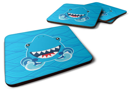 Buy this Shark Open Wide in Waves Foam Coaster Set of 4 BB6947FC