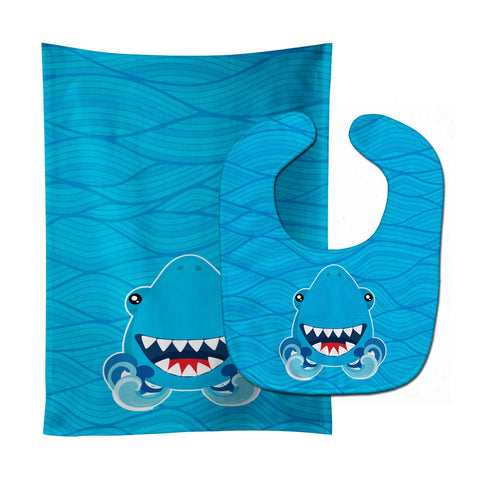 Buy this Shark Open Wide in Waves Baby Bib & Burp Cloth BB6947STBU