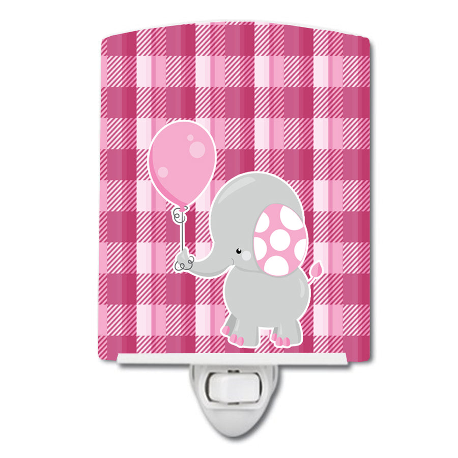 Buy this Elephant with Pink Balloon Ceramic Night Light BB6948CNL