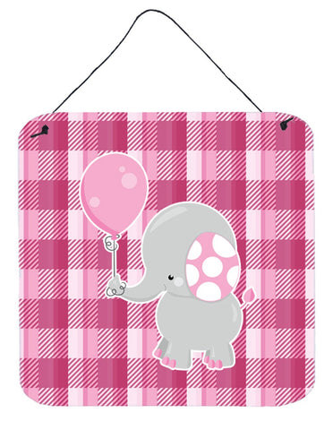 Buy this Elephant with Pink Balloon Wall or Door Hanging Prints BB6948DS66