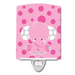 Buy this Elephant with Pink Polkadots Ceramic Night Light BB6949CNL