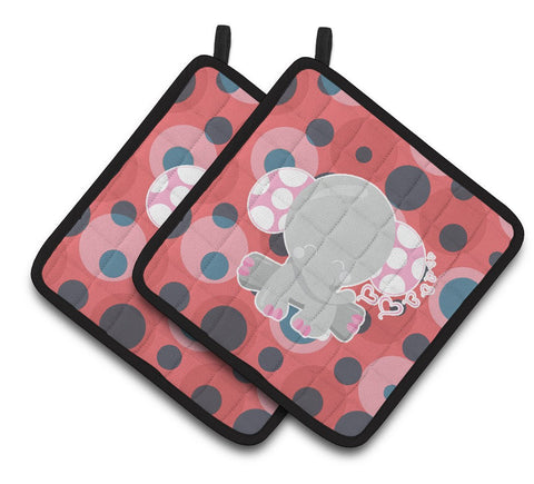 Buy this Elephant Lots of Polkadots Pair of Pot Holders BB6951PTHD