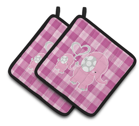 Buy this Elephant and Baby Pair of Pot Holders BB6953PTHD