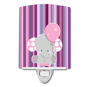 Buy this Elephant on Stripes Ceramic Night Light BB6954CNL