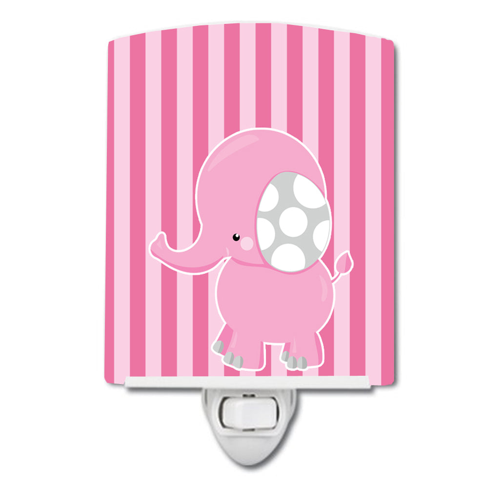 Buy this Elephant on Pink Stripes Ceramic Night Light BB6955CNL