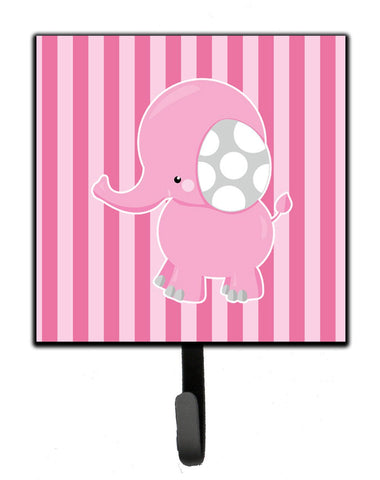 Buy this Elephant on Pink Stripes Leash or Key Holder BB6955SH4