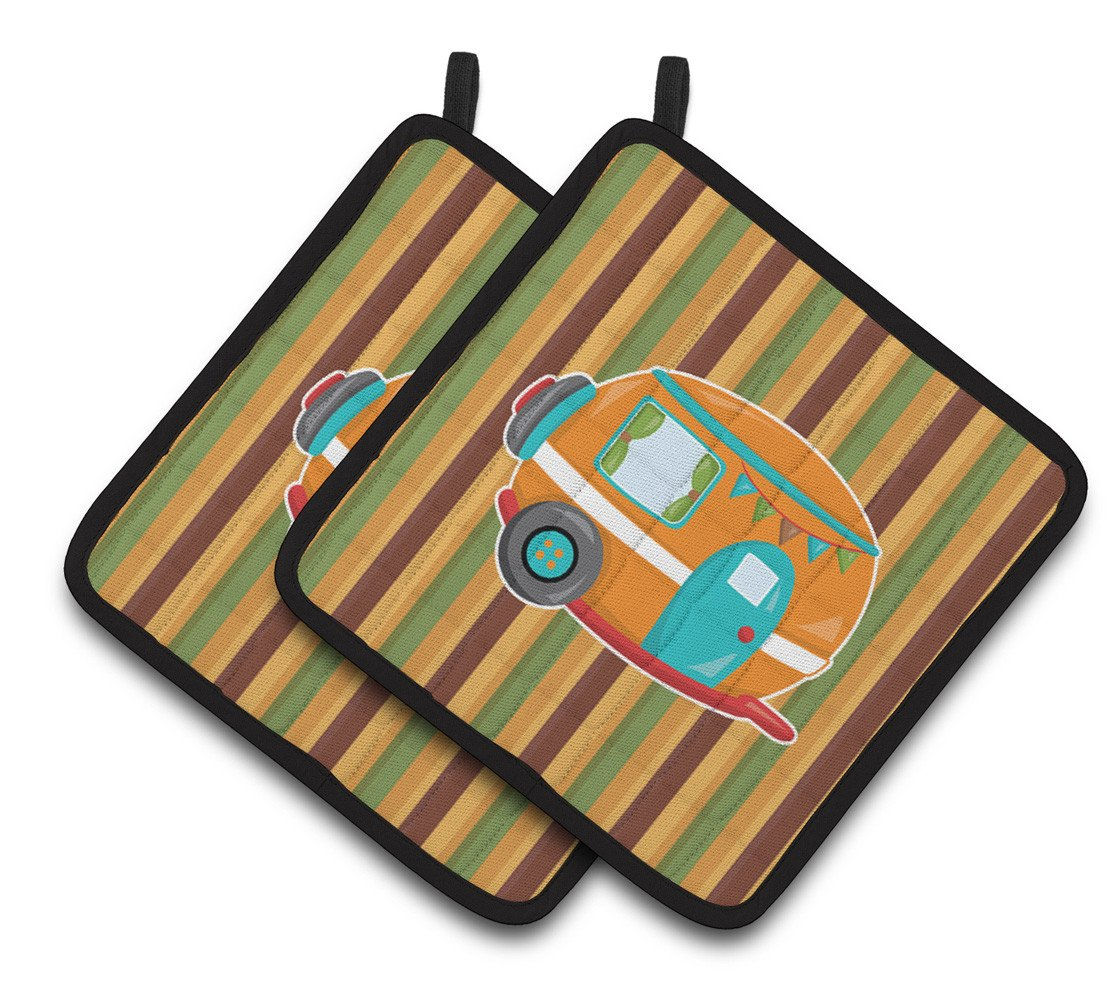 Buy this Retro Camper Pair of Pot Holders BB6956PTHD