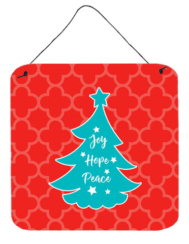 Buy this Christmas Tree Red Teal Wall or Door Hanging Prints BB6969DS66