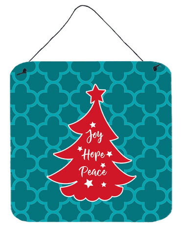 Buy this Christmas Tree Teal Red Wall or Door Hanging Prints BB6970DS66