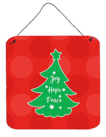 Buy this Christmas Tree Red Green Wall or Door Hanging Prints BB6971DS66