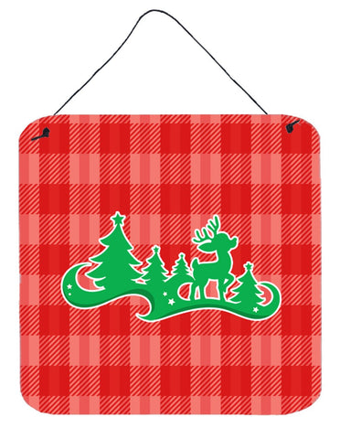 Buy this Christmas Tree Reindeer Red Wall or Door Hanging Prints BB6972DS66