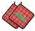 Buy this Christmas Tree Reindeer Red Pair of Pot Holders BB6972PTHD