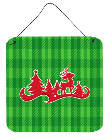 Buy this Christmas Tree Reindeer Green Wall or Door Hanging Prints BB6973DS66